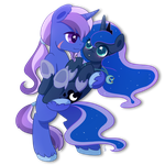Commission .:Princess and Her Night:. by Exceru-Hensggott