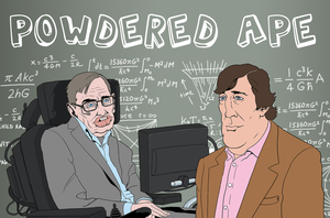 Powdered Ape: Stephen Hawking and Stephen Fry by allistermac