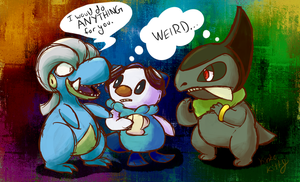 Mystery Dungeon Experience #1 by KinkoKitty