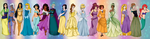 Disney Princesses and Heroines by Setsuna-Yena