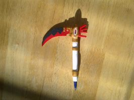 Soul as a Death Scythe clay pen by FullmetalDemigod
