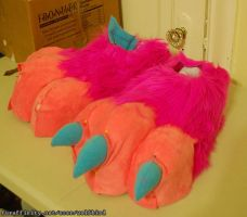 Pamplemousse Paws WIP by Wolfbird