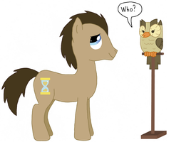 Dr Whooves and Owloysius by CatIron