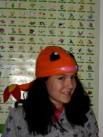 Charmander Hat, Worn by Me by nikkiswimmer
