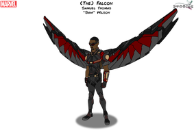 (The) Falcon [With Wings] by PhoenixStudios91