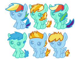 My Little Pony Baby Adopts [closed] by redroseadopts
