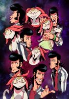 Dandy Sketches:  Now in living color! by zillabean