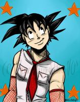 Goku: Cute as a buttom by monicalynnevallejo