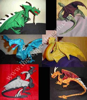Plush Dragon Collage by TheCopperDragon2004