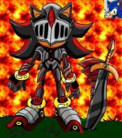 Shadow Armored in Black Knight by Sonicfanartists