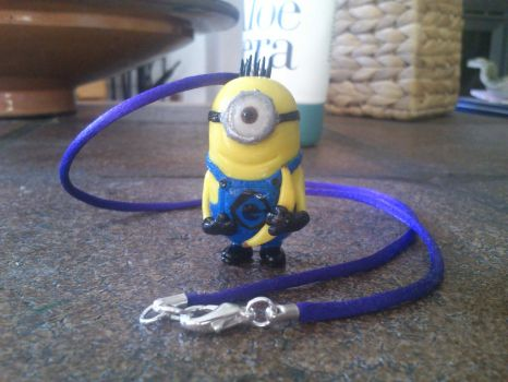 Minion necklace finished. by JuliaJulsH