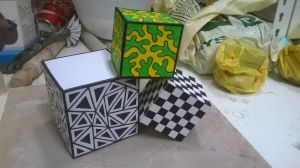 Patterned Paper Cubes by ffluralaw