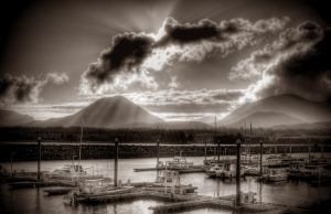Bar Harbor Sepia HDR 101709 by Muskeg