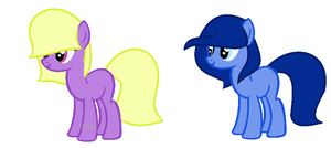 Mystery Egg Ponies nr 6 and 8 by AyaxiesAdopts