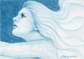 As Blue As The Ocean - ACEO by MayumiOgihara