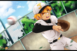 Curve ball! by MikkouKun