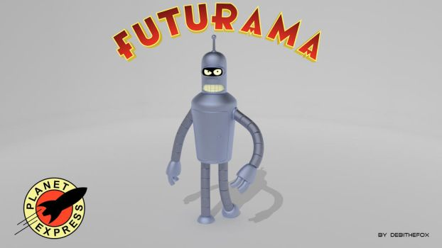 Bender To Futurama by DebiTheFox