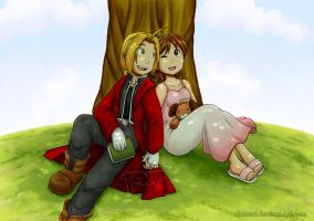 FMA: Rest under the shade by rinacat