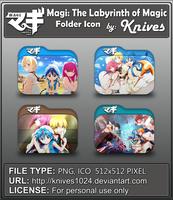 Magi [The Labyrinth of Magic] Anime Folder Icon by knives1024