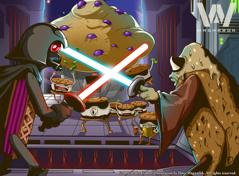 STAR SMORES - OBI WAN CANOLI vs DARTH WAFER by DavyWagnarok