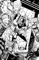 TF MTMTE 37 cover lineart by markerguru