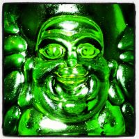 Glass Buddha by HarmsWayApparel