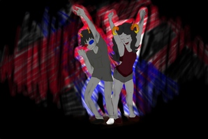 Collab- Solara Dance Party by ashe-the-hedgehog