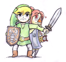 Link and Medli by Just-A-Michael