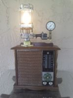 Vintage Steampunk Retro-Futuristic RCA Radio by SteampunkFromScratch