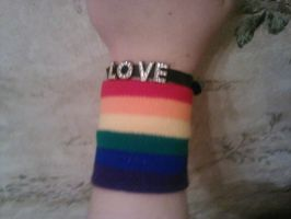 Gay Pride Bracelets by Sally-Faqbs