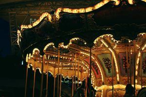 carousel in night by AnonimFilozof