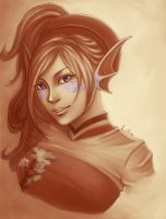 Sepia violet by Yaling