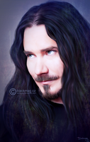 Tuomas Holopainen Painting by perlaque