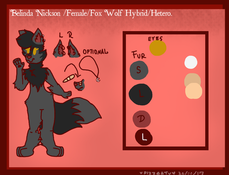 Belinda ref sheet by Pizzaatv by PizzaaTv
