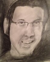Markiplier Pencil Drawing by Idontgethatreference