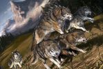 Wolf Pack by BenWootten