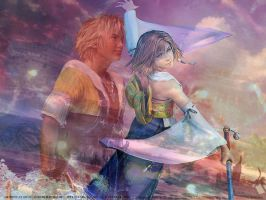 Final Fantasy Tidus And Yuna by FantasyFan1989