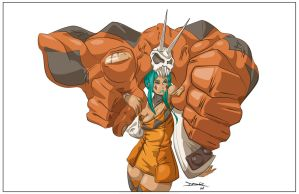 Skullgirls' Cerebella Fan Art - Vector Art by thek0n