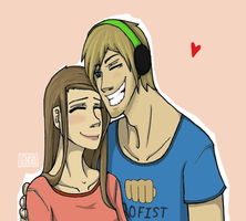 For Pewdie and Cutie by 13OukaMocha13