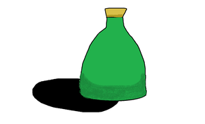 Green Glass Bottle in MS Paint by PIZZAPIE97