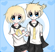 Kagamine Twins by Melonchu