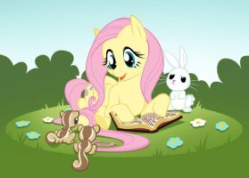 Storytime with Fluttershy by EvanStanley