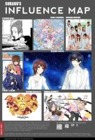 SUBARU'S INFLUENCE MAP. by SubaruMangaka