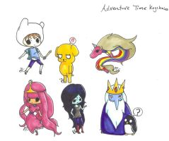 Adventure Time Keychain Set by CaittheCat