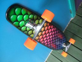AIRBRUSHED SKATEBOARD by PiscesAirbrush