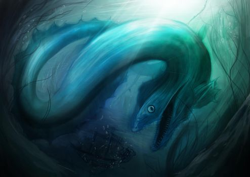 Giant eel by bennyb92