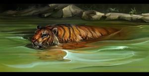 Floating tiger improvisation by SalamanDra-S