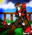 Mianite S2: Mot with Dianitos and little Mot by Katsumi96Dokuro