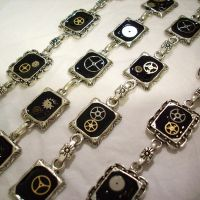 Steampunk Bracelets by resinated-etsy