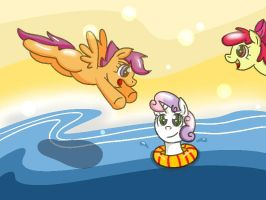 cutie mark crusaders in summer by shinkuma